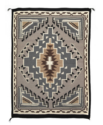 Two Grey Hills rug by an unknown artist (Navajo)