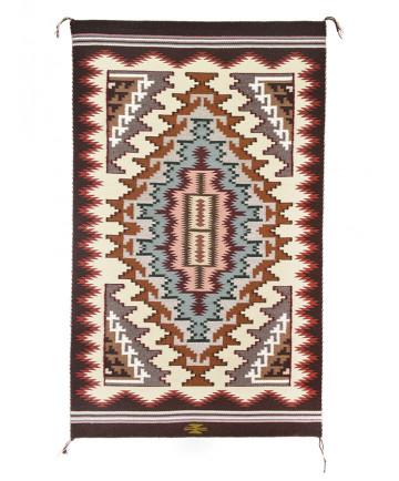 Burntwater rug by Cara Yazzie (Navajo)
