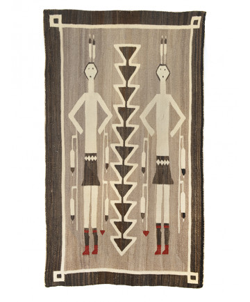 c. 1920's Hero Twins rug by an unknown artist (Navajo)