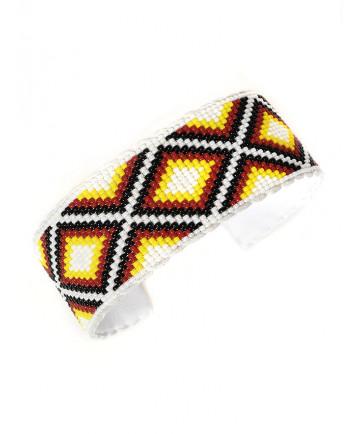Beaded bracelet by Daniel Yazzie (Navajo)