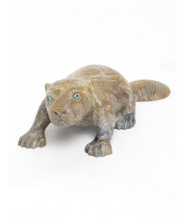 Beaver Fetish Carving by Travis Lasiloo (Zuni)