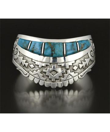Silver & Turquoise Bracelet by Sampson Gray (Navajo)