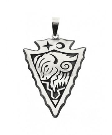 Sterling Silver Buffalo Pendant by Ruben Saufkie (Hopi)