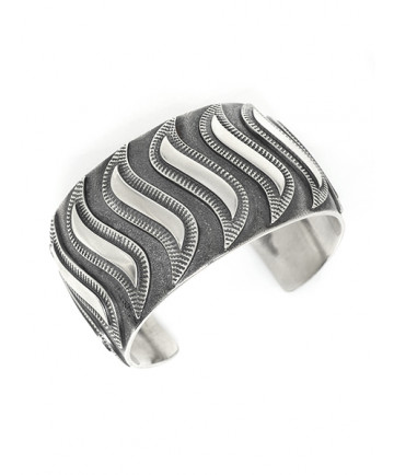 Sterling Silver Bracelet by Curtis Pete (Navajo)