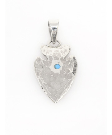 Sterling Silver Arrowhead Pendant by Chantel Taylor (Navajo)