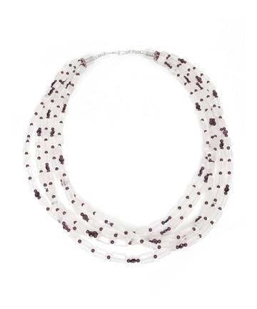 Crystal & Garnet Necklace by Colina Yazzie (Navajo)