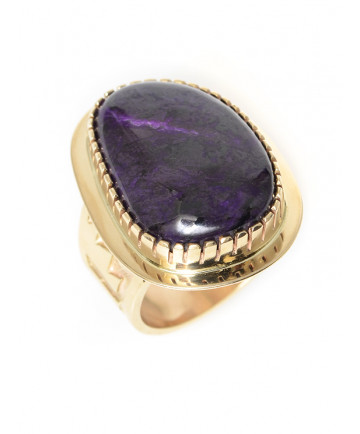 14K sugilite ring by Tommy Jackson (Navajo)