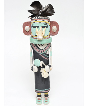 Bean Kachina Doll by Markus Barton (Hopi)