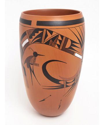 Pottery Vase by Garrett Maho (Hopi)