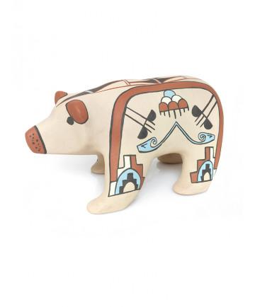Pottery bear by I. Pecos (Jemez)