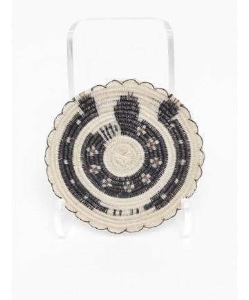 Miniature Rattlesnake Basket by Elizabeth Juan (Tohono O'odham)