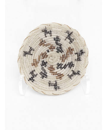 Miniature Horsehair Dogs Basket by Adeline Molina (Tohono O'odham)