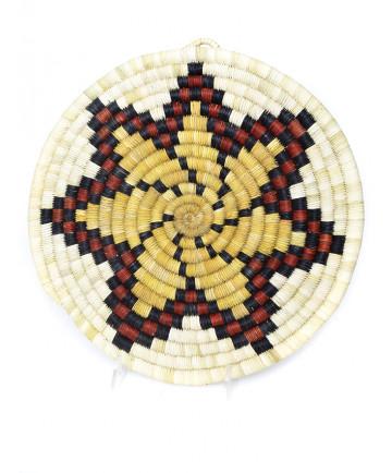 """Blossom"" coil basket by Pauline Quiyo (Hopi)"