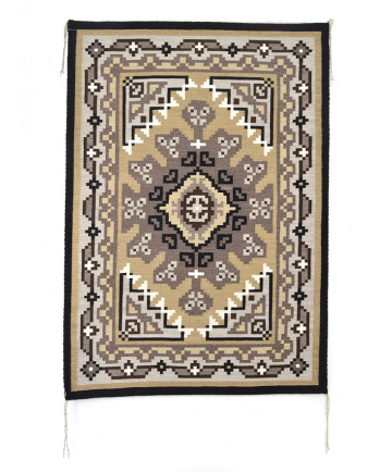 Two Grey Hills rug by Peggy Toney (Navajo)