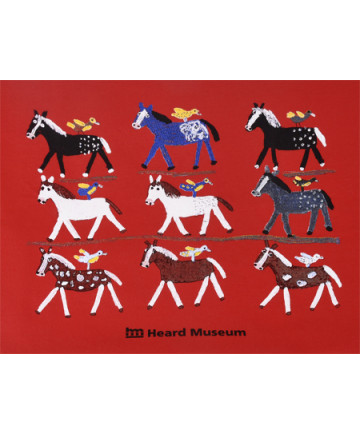 Heard Museum Folk Art Ponies T-Shirt- XL
