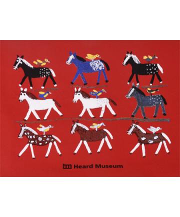 Heard Museum Folk Art Ponies T-Shirt- XXL