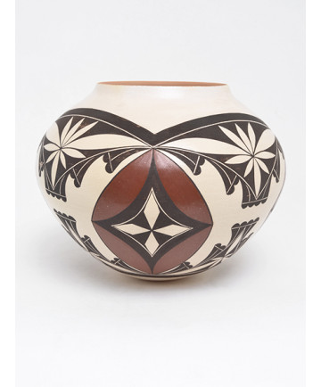Polychrome Pottery Bowl by Yonne Lucas (Laguna)