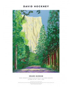 """Yosemite II, October 16th 2011"" by David Hockney - poster"