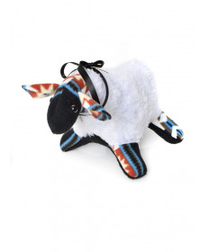 Folk art stuffed lamb by Gloria Martin (Navajo)