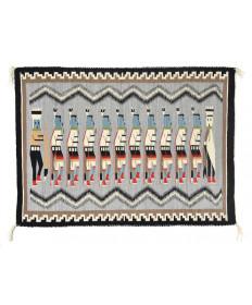 c. 1960's Yei Bi Chei rug by Connie Thompson (Navajo)