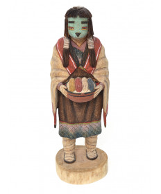 Tewa Maiden Kachina Doll by Kevin Sekakuku (Hopi)