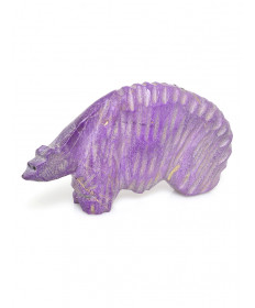 Sugilite Bear Fetish Carving by and Uknown Artist (Zuni)