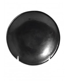 Blackware pottery plate by Maria Martinez (San Ildefonso)