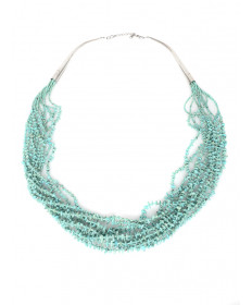 10-strand turquoise necklace by an unknown artist