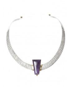 Sugilite collar by Edison Cummings (Navajo)