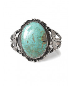 Turquoise bracelet by an unknown aritst (Navajo)