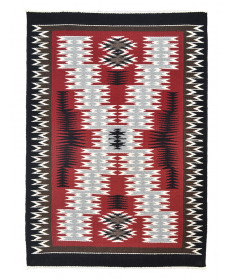 Storm Pattern rug by Michelle Laughing (Navajo)