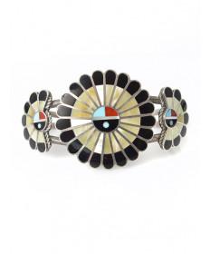 Sunface bracelet by April Unkestine (Zuni)