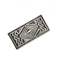 Sterling silver pin by Kenneth Begay (Navajo)