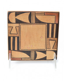 Keyhole pottery tile by an unknown artist (Hopi)