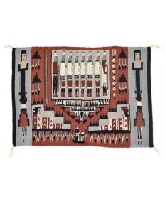 Yei rug by an unknown artist (Navajo)