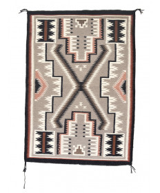 Storm pattern rug by an unknown artist (Navajo)