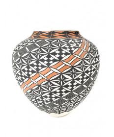 Polychrome pot by Katherine Victorino (Acoma)