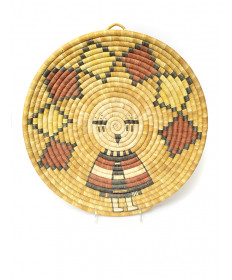 c. 1980's Snow Maiden coil basket by an unknown artist (Hopi)