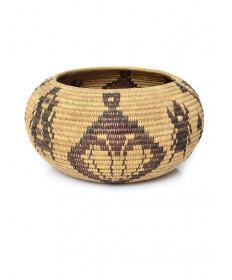 c. 1912 coiled basket by Daisy (Charlie) Mallory (Mono Lake Paiute)