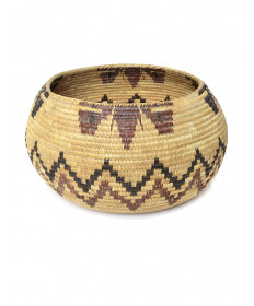 c. 1915 coiled basket attributed to Daisy (Charlie) Mallory (Mono Lake Paiute)