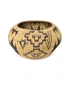 c. 1920's coiled basket by an unknown artist (Mono Lake Paiute)