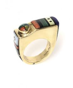 Multi-stone ring by Jesse Monongye (Navajo/Hopi)