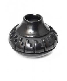 Miniature blackware pottery by Nancy Youngblood (Santa Clara)