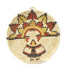 Palhik Mana coil basket by an unknown artist (Hopi)