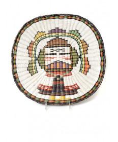 Palhik Mana wicker basket by an unknown artist (Hopi)