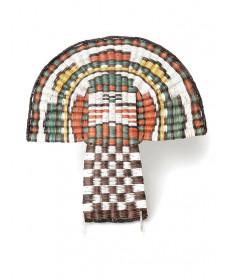Shalako Mana wicker basket by Alicia Adams Monroe (Hopi)