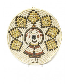 c. 1990's mother/grandmother coil basket by an unknown artist (Hopi)