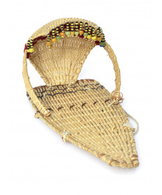c. 1912 miniature cradle basket by Datsolalee (Washoe)
