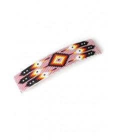 Pink beaded barrette by Daniel Yazzie (Navajo)