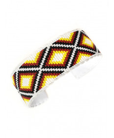 Beaded bracelet by Daniel Yazzie (Navajo)